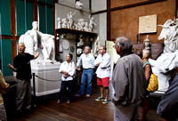 Bill Allen gives a tour of the studio at Chesterwood in Stockbridge, Mass. that contains many studies of sculptor Daniel Chester French's large outdoor works, including the Lincoln Memorial.